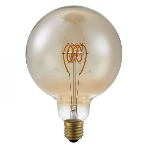 LED G125 Globe Gold TR 4.5W 140lm E27 | Schiefer Lighting