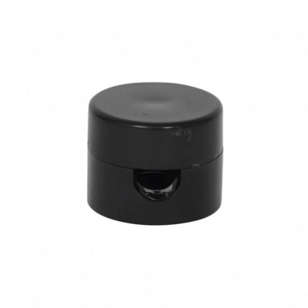 2-teiliger Kabelhalter aus Kunststoff schwarz
