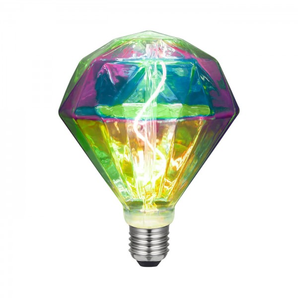 LED Diamond iridescent 3W E27 | Daylight Italia
