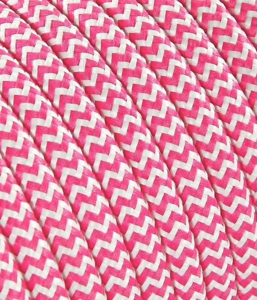 Textilkabel rosa weiss Konigs