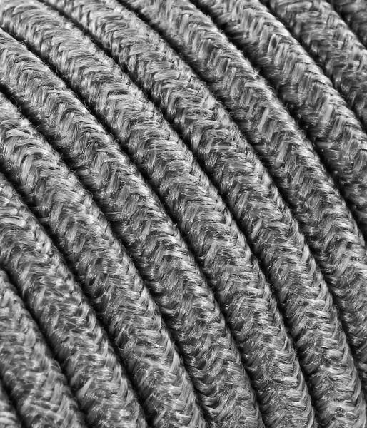Textilkabel Baumwolle grau