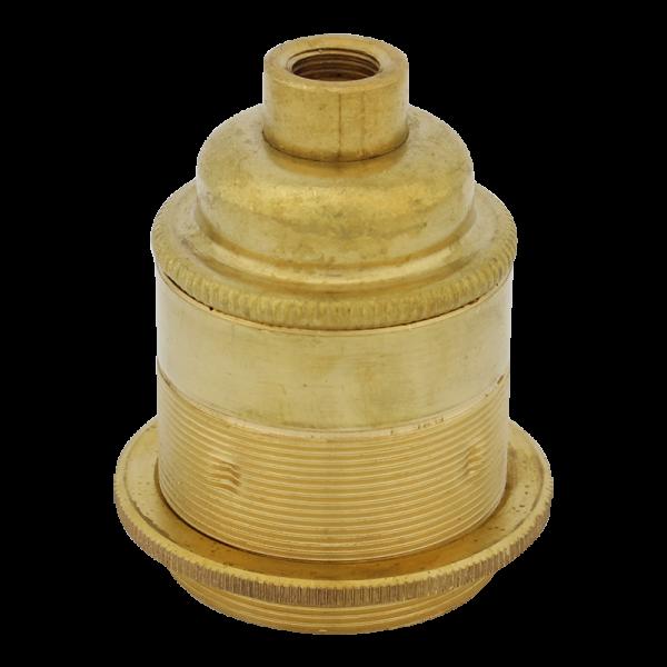 Fassung Brass mit Stellring und M10-Gewinde E27