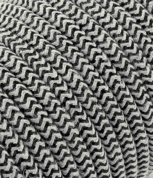 "Textilkabel sabbia/schwarz ""Zick-Zack"" TO434, 2 x 0,75mm²"
