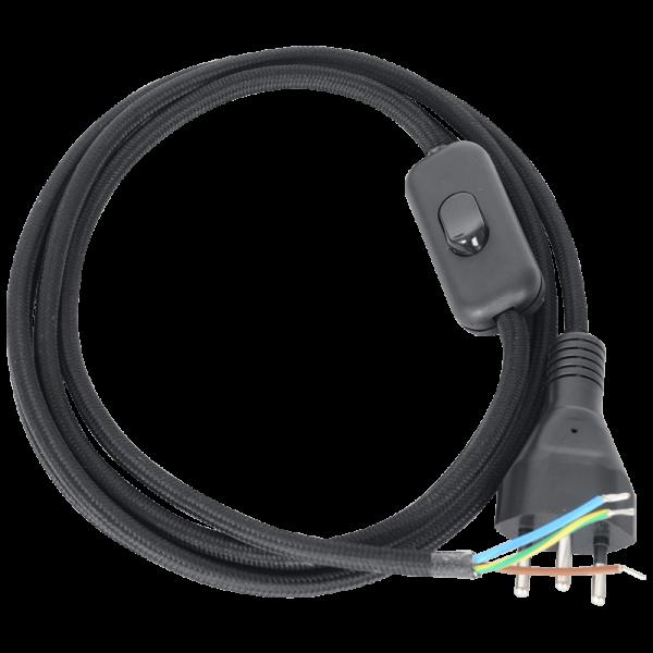 Anschlusskabel mit Wippzwischenschalter schwarz
