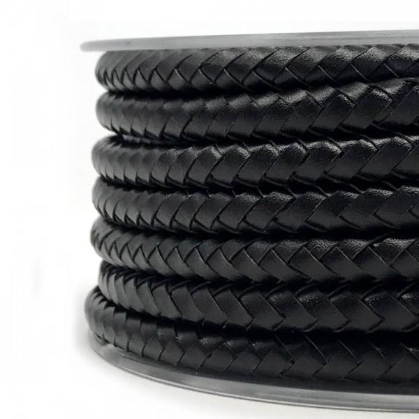 Kabel aus Leder schwarz