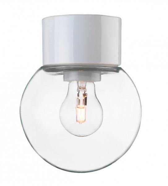Deckenleuchte Classic Globe 150 klar weiss Ifö Electric
