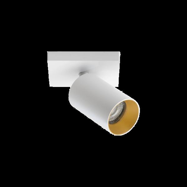 Wand- und Deckenleuchte SpotOn1 weiss / gold