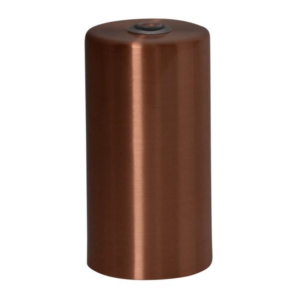Lampenfassung zylinderförmig kupfer gebürstet E27