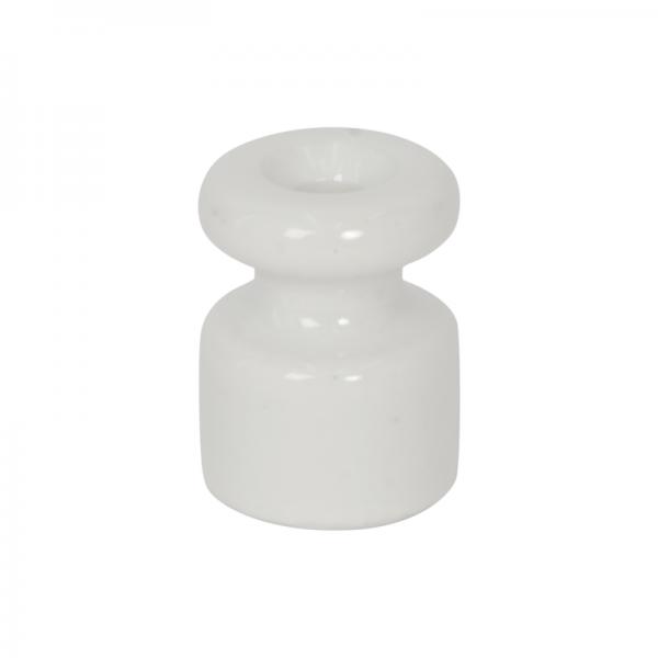 Porzellan Isolator / Kabelhalter weiss