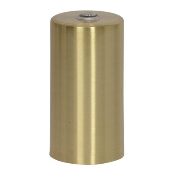 Lampenfassung zylinderförmig messing gebürstet E27