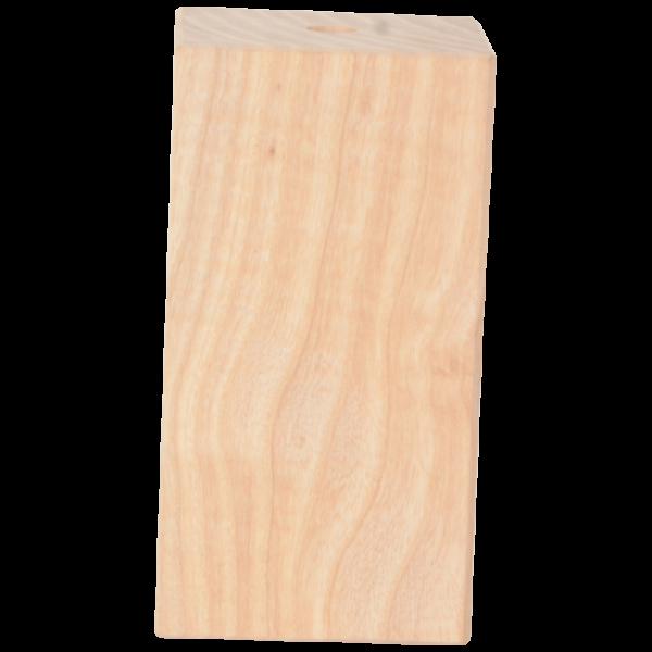 Holz Fassung-Hülse quadro lang E27