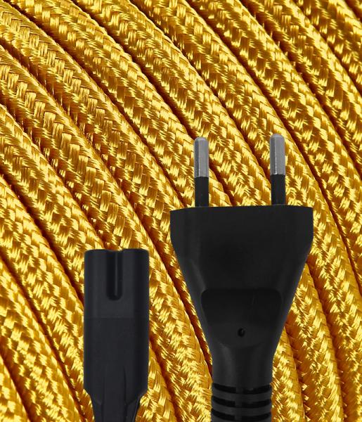 Gerätekabel Textil gold | Konigs Design