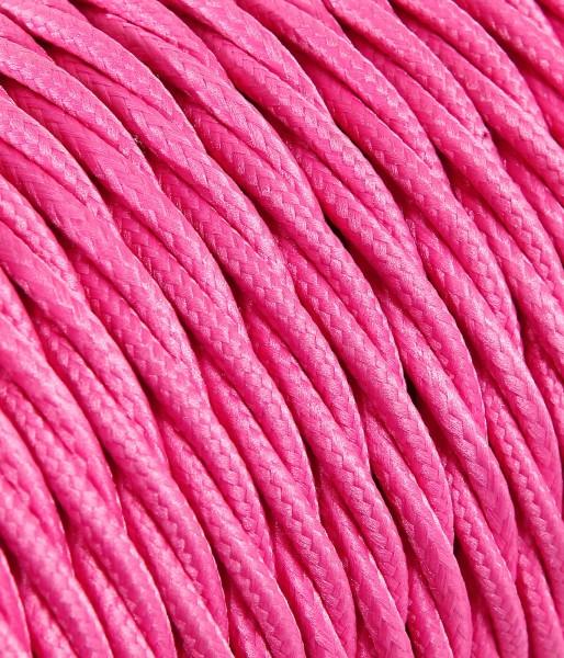 Textilkabel pink verdrillt Konigs