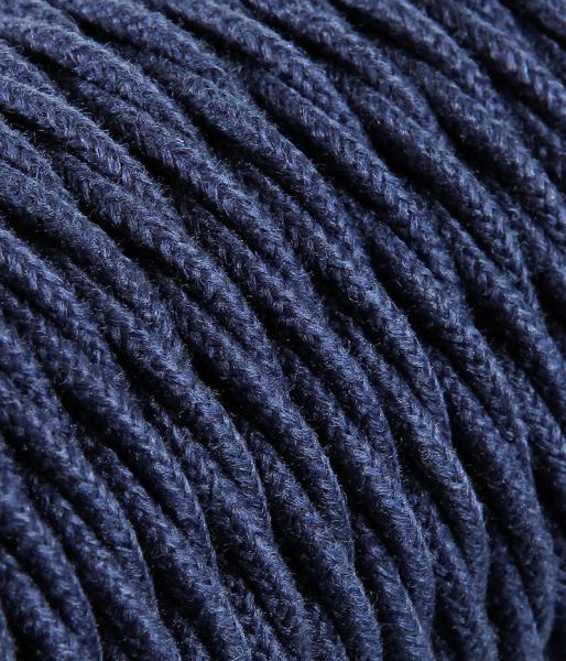 Textilkabel Jeans blau verdrillt TR410, 3 x 0,75mm²