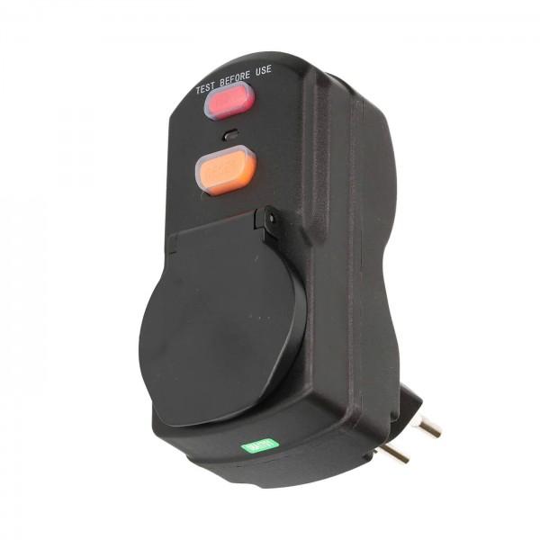 FI-Schutzadapter Stecker T12 / Kupplung T13 schwarz