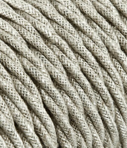 Textilkabel Baumwolle hell verdrillt TR401, 2 x 0,75mm²