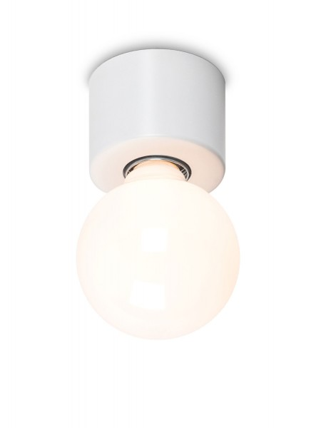 Lampensockel Messing weiss matt