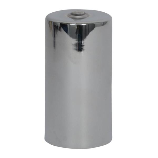 Lampenfassung zylinderförmig Chrome E27