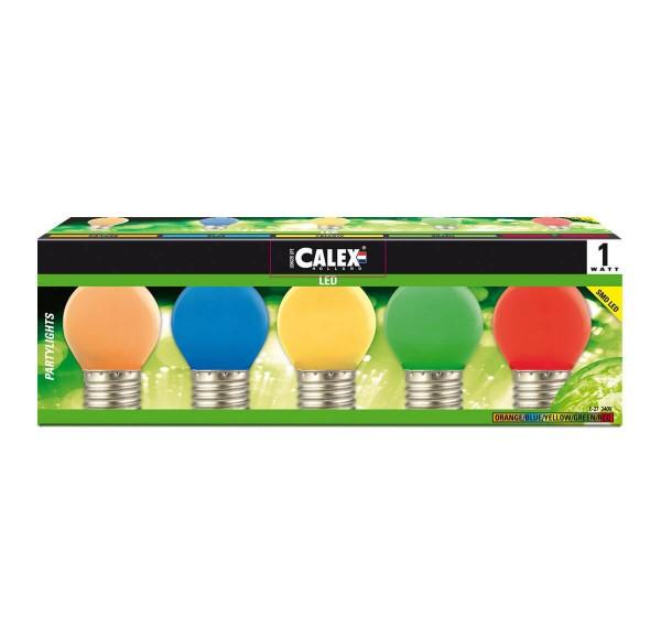 LED-Leuchtmittel Party-Set 5-farbig
