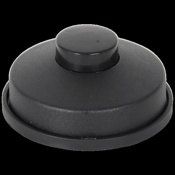 Fussschalter mit Knopf 3-polig schwarz