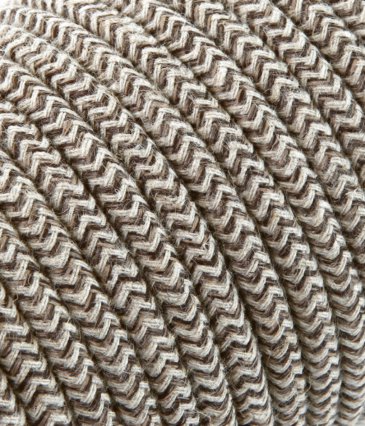 "Textilkabel sabbia/braun ""Zick-Zack"" TO431, 2 x 0,75mm²"