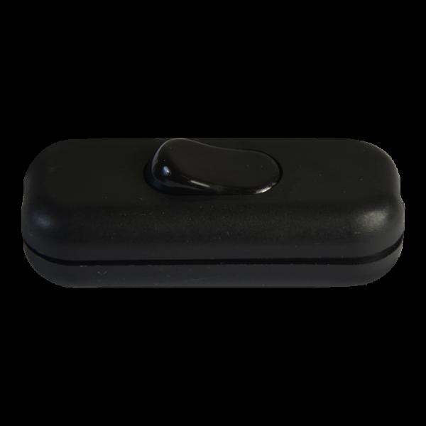 Wippzwischenschalter Kunststoff 3-polig schwarz