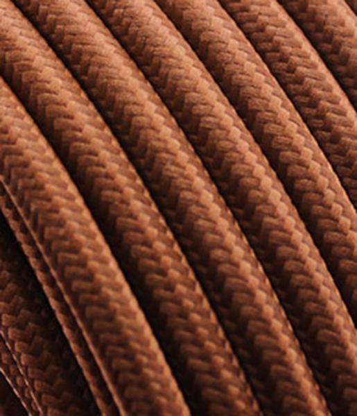 "Textilkabel ""rehbraun"" mit Tragorgan, 3 x 0,75mm²"