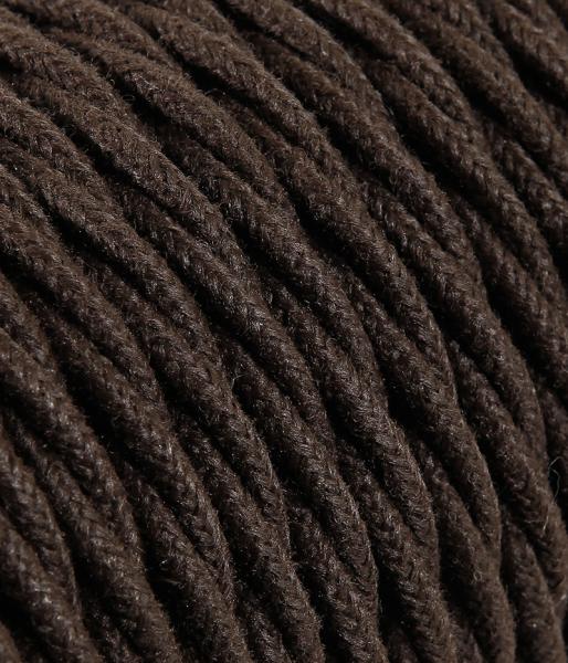 Textilkabel Jeans braun verdrillt TR412, 2 x 0,75mm²