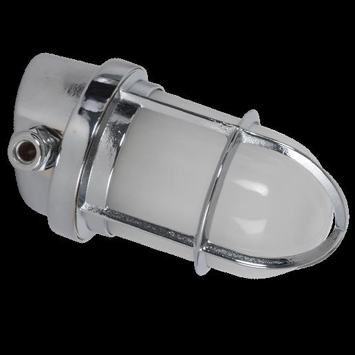 Polierte Chrom Wandlampe schräg | Foresti & Suardi