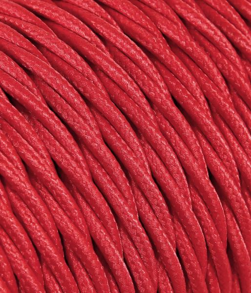 Textilkabel rot verdrillt TR7, 2 x 0,75mm²