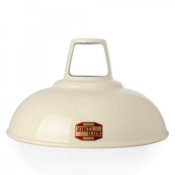 Emaille Lampenschirm 1933 Light Cream Vintlux