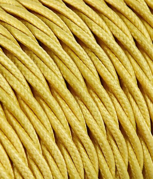 Textilkabel gelb verdrillt TR8