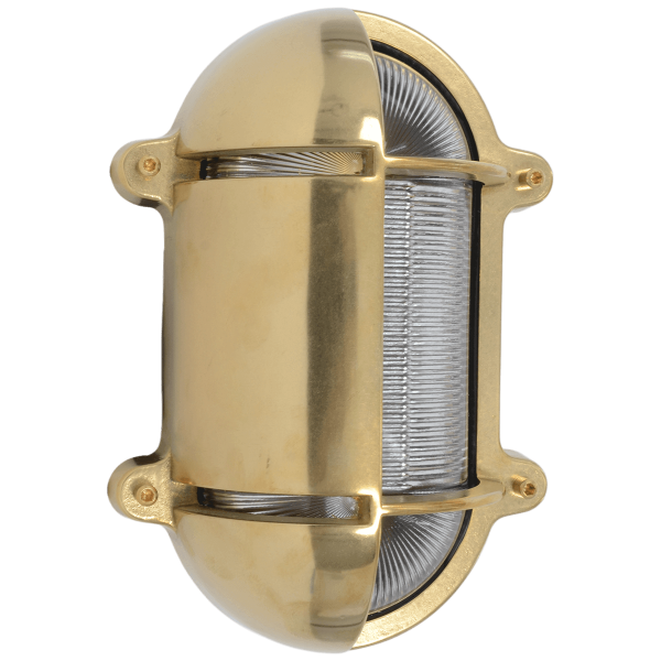 Wandlampe Oval Messing 245x172 | Foresti & Suardi