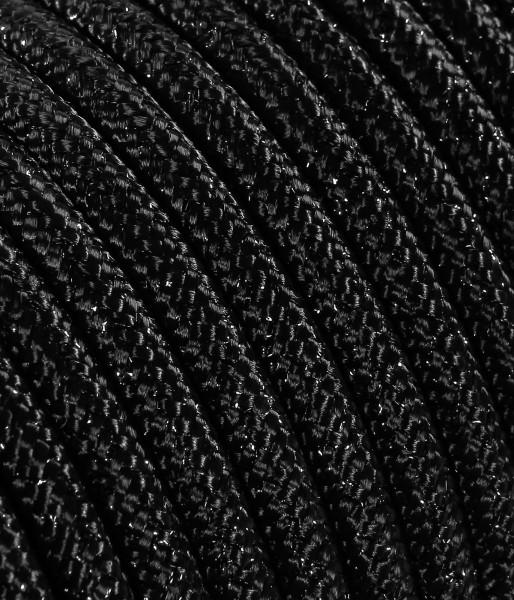 Textilkabel schwarz metallic TO461