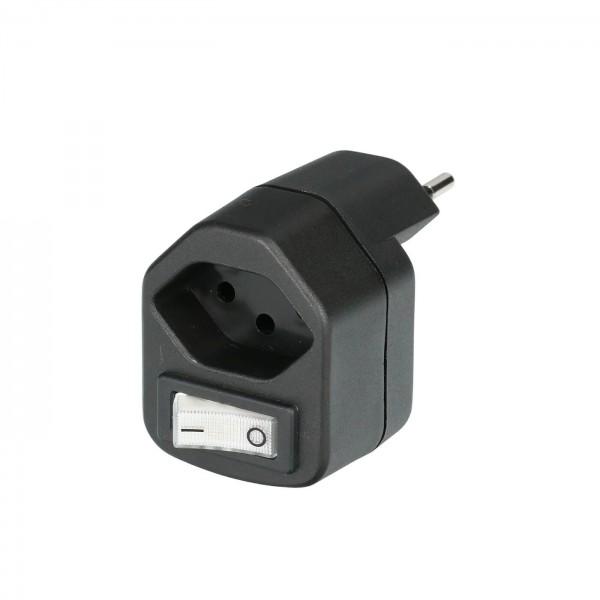 Stecker Typ13 schwarz mit Schalter
