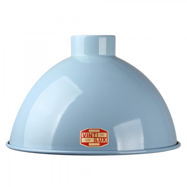 Emaille Lampenschirm Powder Blue Vintlux