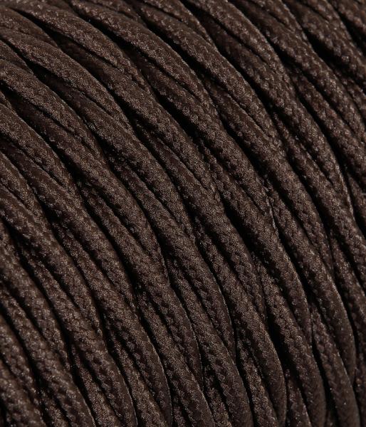 Textilkabel braun verdrillt TR11