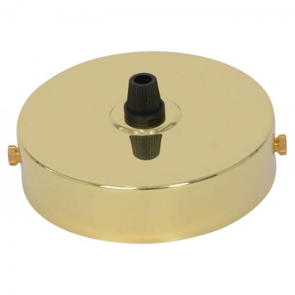 Lampenbaldachin für ein Pendel in Messing