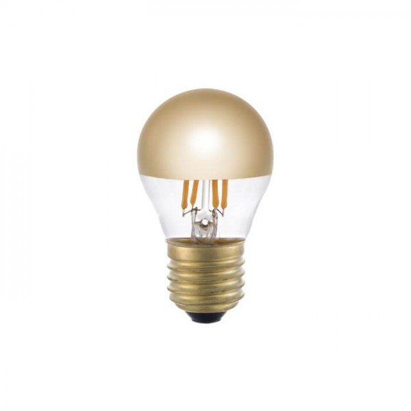 LED Ball Spiegelkopf gold 4W 250lm E27 | Schiefer Lighting