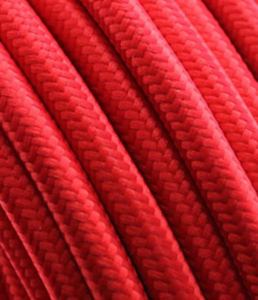 """Textilkabel """"rot"""" mit Tragorgan, 3 x 0,75mm²"""