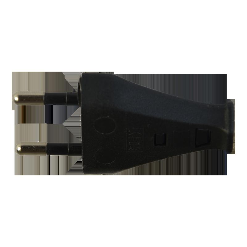 2 pol stecker t26 schwarz in der schweiz bestellen. Black Bedroom Furniture Sets. Home Design Ideas