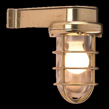 Polierte Eckige Messing Leuchte | Foresti & Suardi