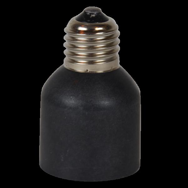 Adapter E27 / E40 Kunststoff schwarz