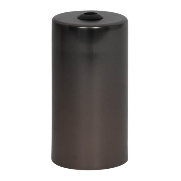 Lampenfassung zylinderförmig Gunmetal E27