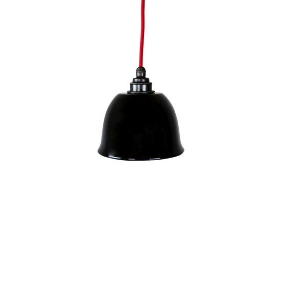 Emaille Lampe Dome schwarz