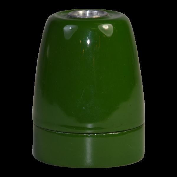 Premium Porzellanfassung E27 grün glanz