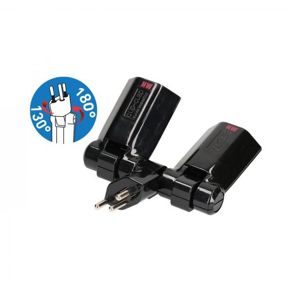 Mehrfachstecker Clip-Clap 2x Typ13 3-polig schwarz