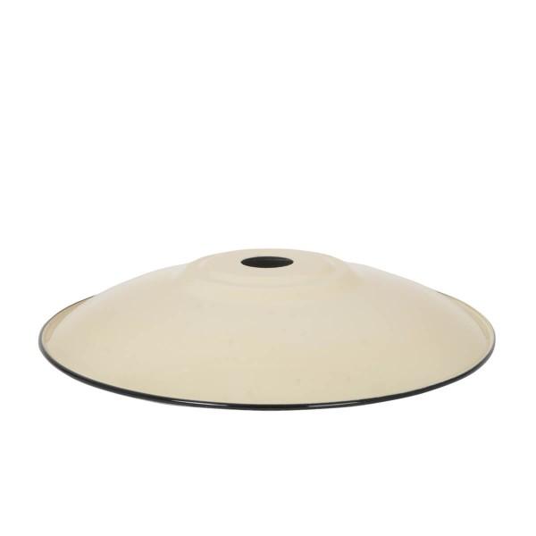 Lampenschirm Flat XL panna aus emailliertem Stahl