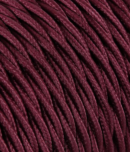 Textilkabel bordeaux verdrillt TR73, 3 x 0,75mm²