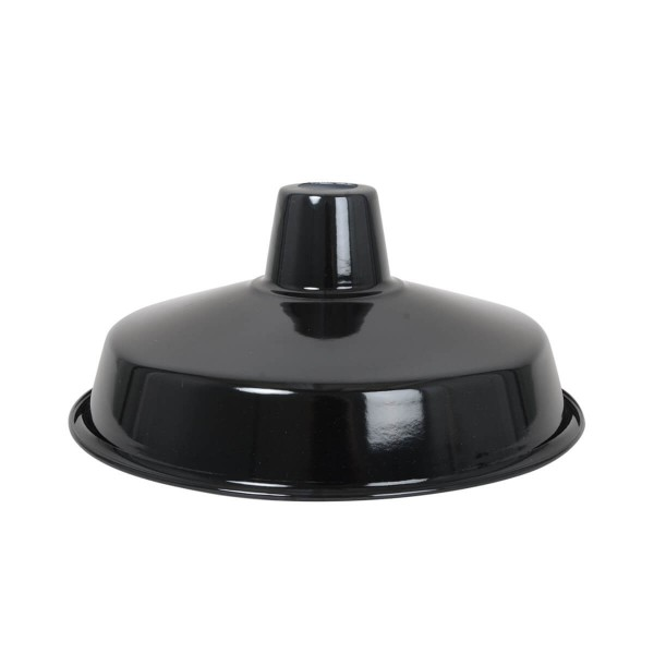 Lampenschirm schwarz aus emailliertem Stahl